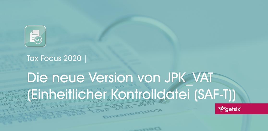 Die neue Version von JPK_VAT (Einheitliche Kontrolldatei (SAF-T)) - Header-Bild