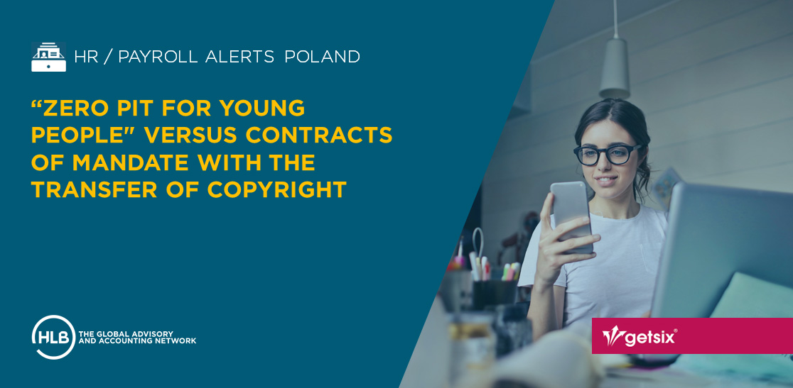 Zero PIT for young people - versus contracts of mandate with the transfer of copyright