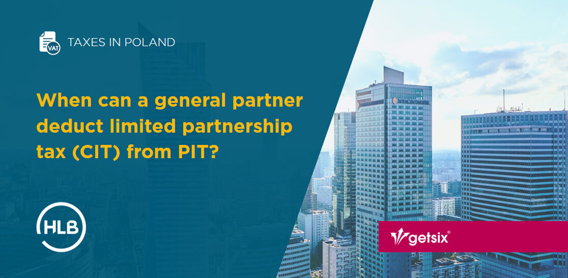When can a general partner deduct limited partnership tax (CIT) from PIT?
