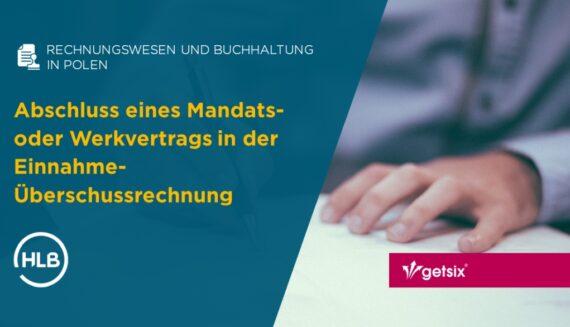 Abschluss eines Mandats- oder Werkvertrags in der Einnahme-Überschussrechnung